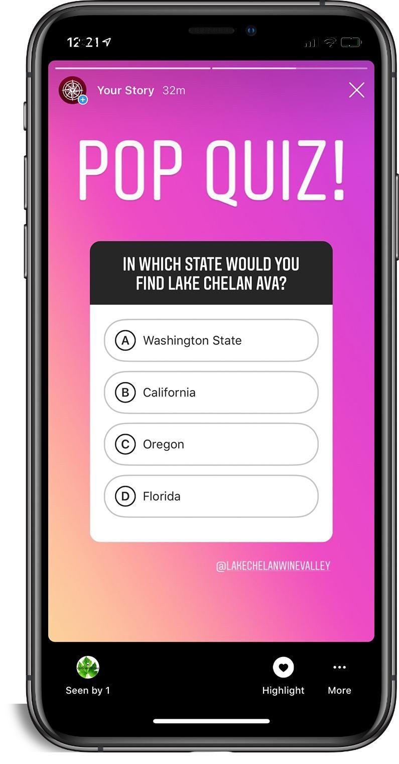 Instagram Stories Quiz - image 1 - student project