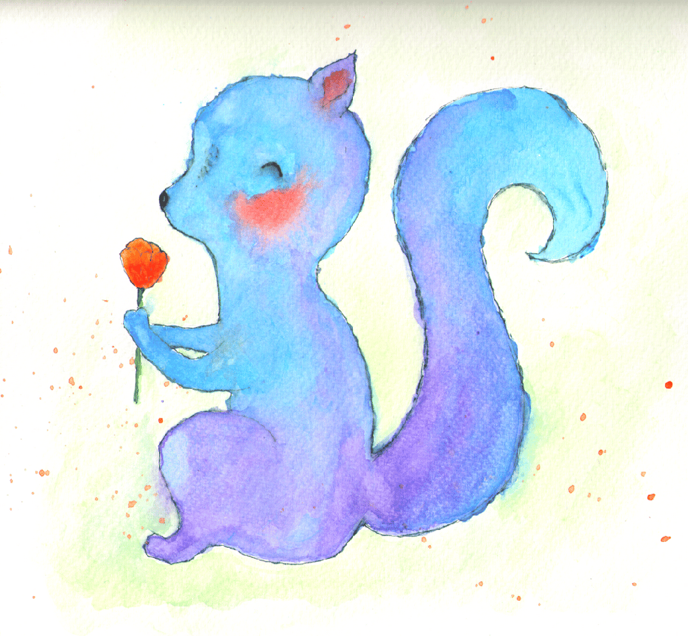 The used to be cute squirrel before eating my spring flowers and the now cute bat - image 1 - student project