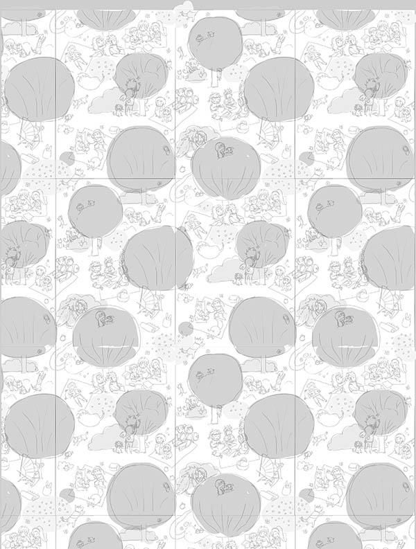 (WIP) Half drop repeat pattern - Picnic - image 5 - student project