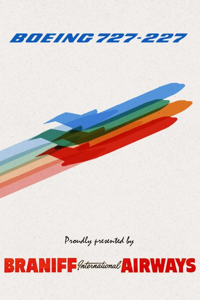 Retro Poster:  Braniff Airlines - image 2 - student project