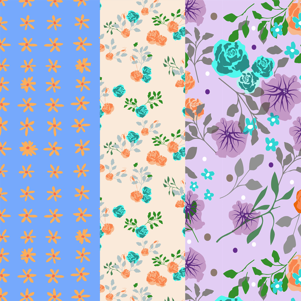 Flowery Patterns - image 1 - student project