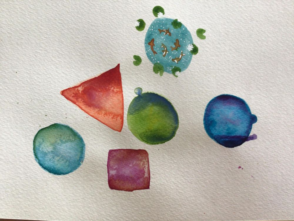 Watercolor blooms - image 1 - student project