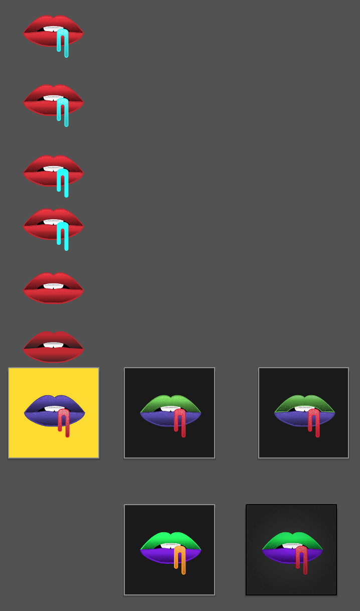 Neon Lips - image 1 - student project