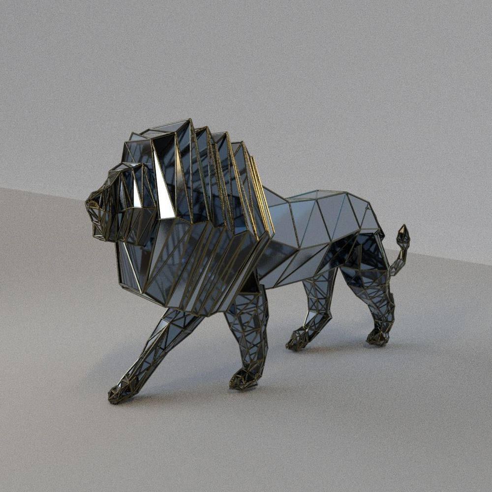 LOW-POLY LION - image 1 - student project