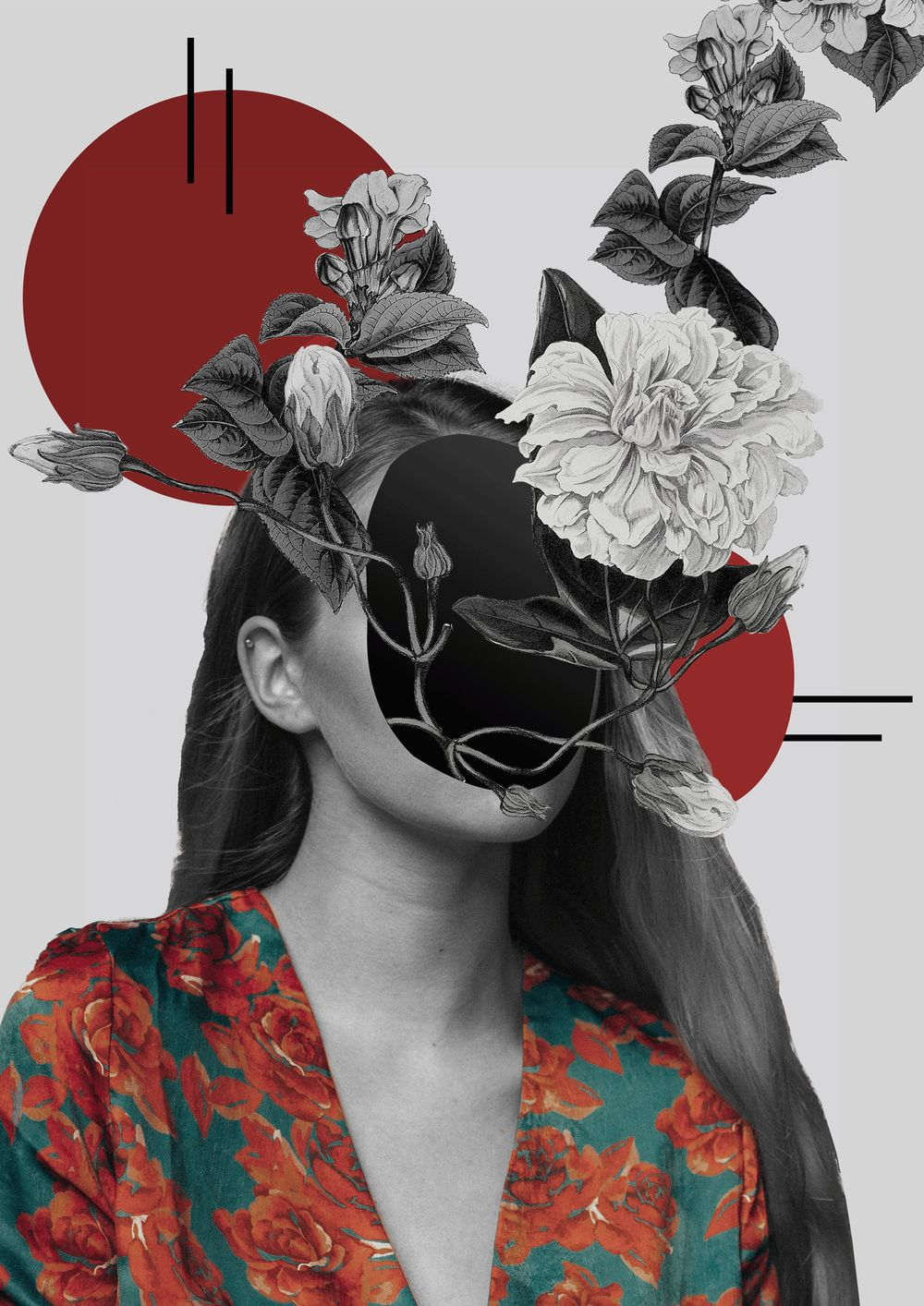 Floral portrait - image 1 - student project