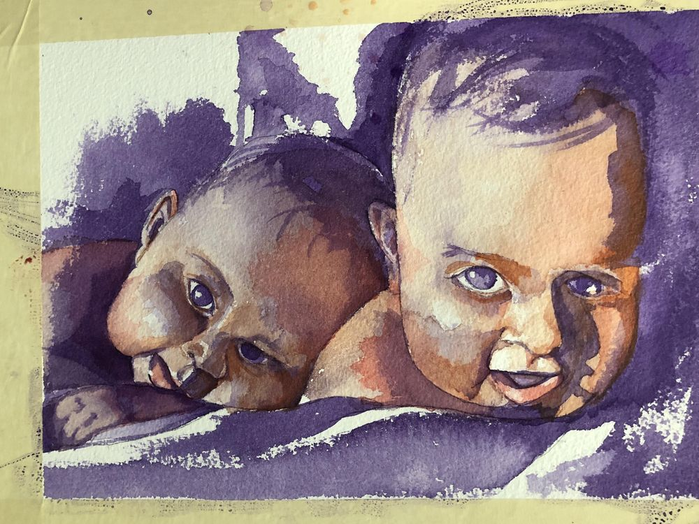 Twin Babies - image 2 - student project