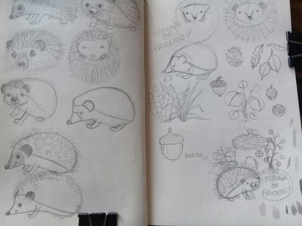 Erizo simpático (Friendly hedgehog) - image 2 - student project