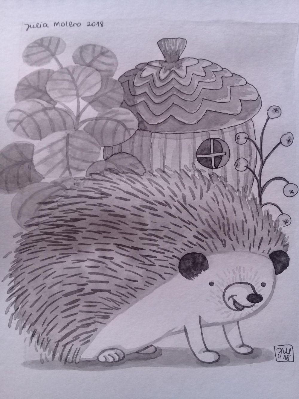 Erizo simpático (Friendly hedgehog) - image 1 - student project