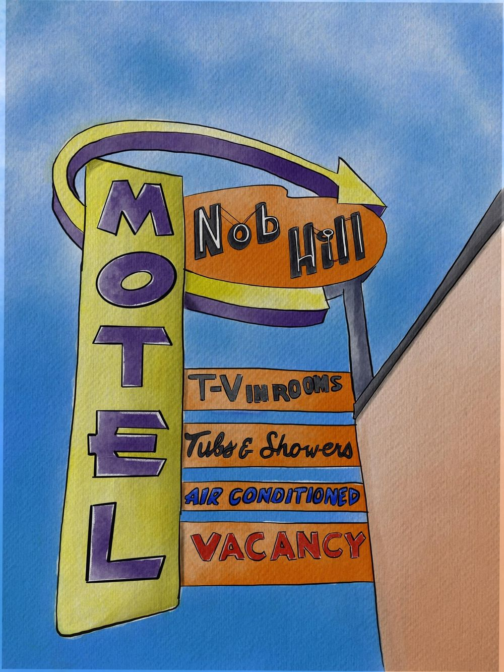 Nob Hill Motel Sign - image 1 - student project