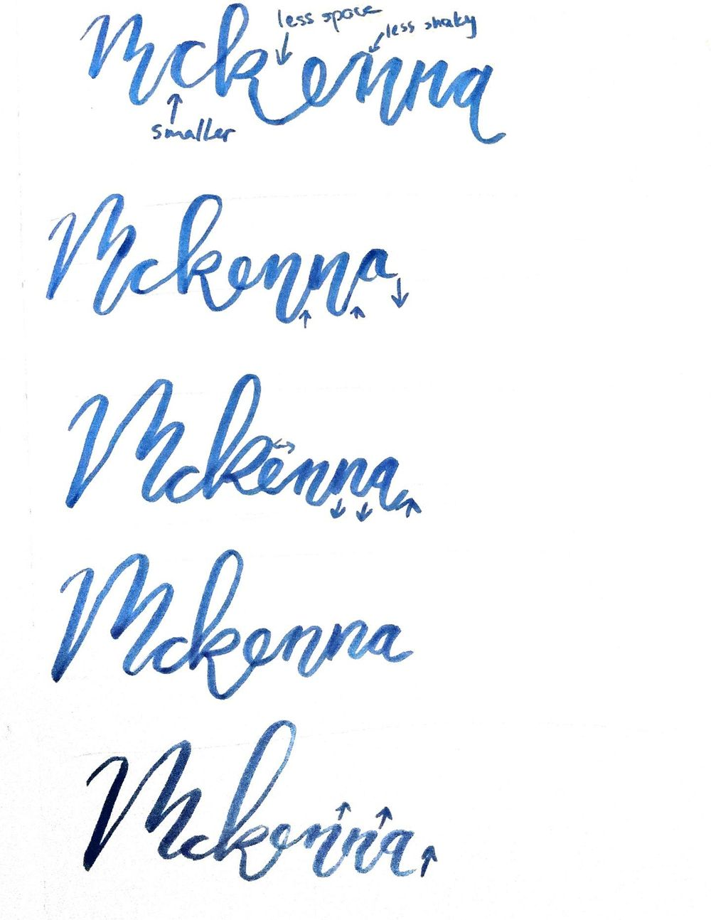 McKenna in bounce lettering - image 2 - student project