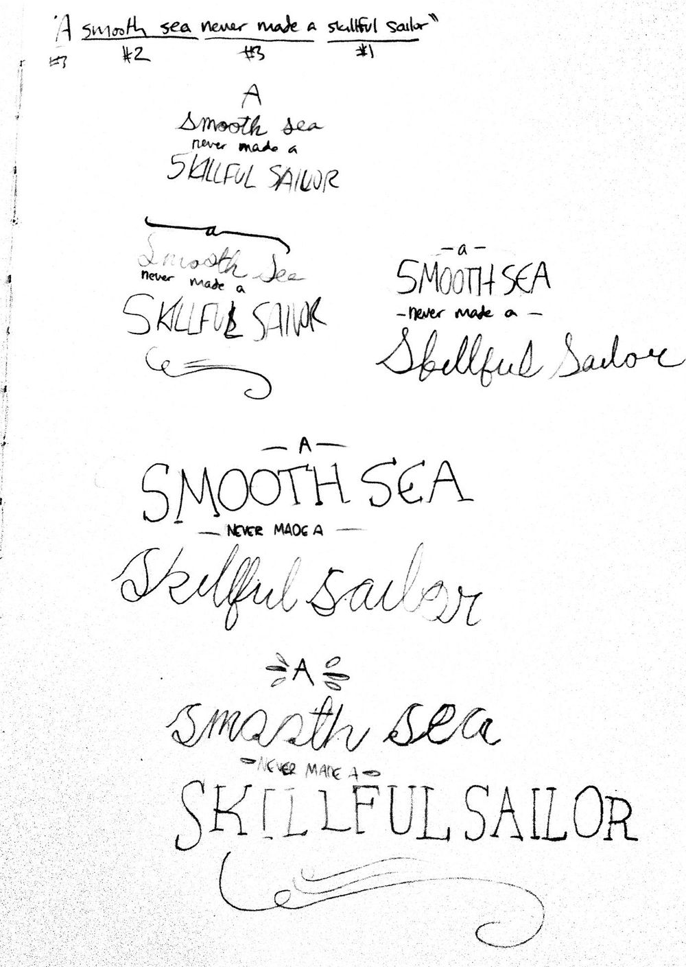 A Smooth Sea Never Made A Skillful Sailor - image 1 - student project