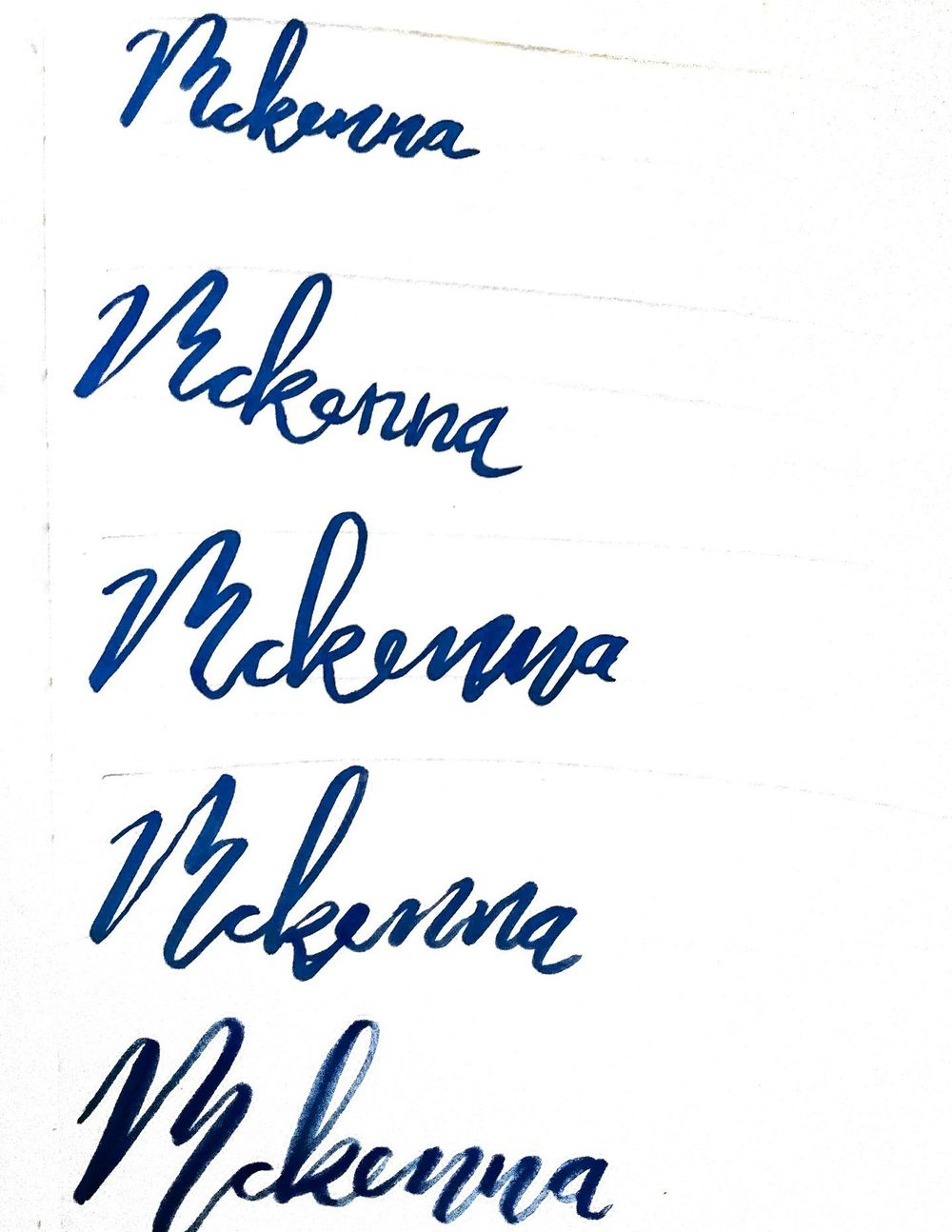 McKenna in bounce lettering - image 3 - student project