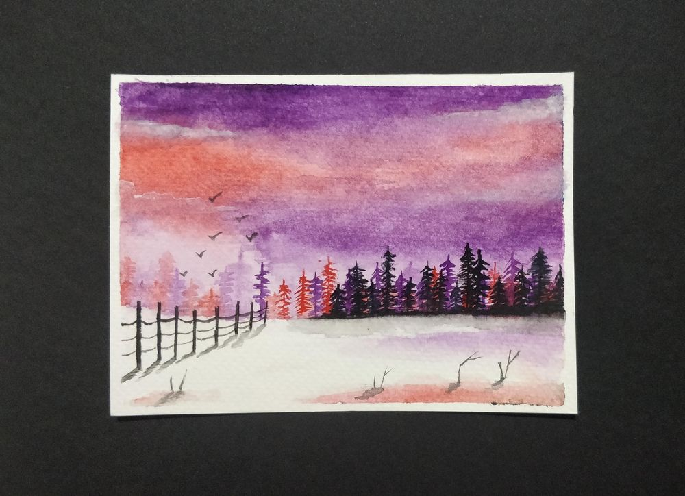 My attempt at snowy landscapes - image 3 - student project