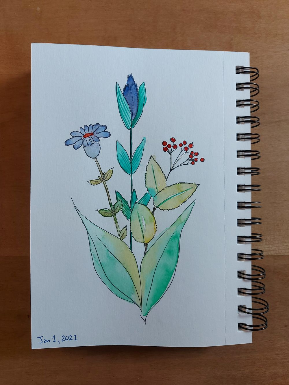 Watercolour florals - image 2 - student project