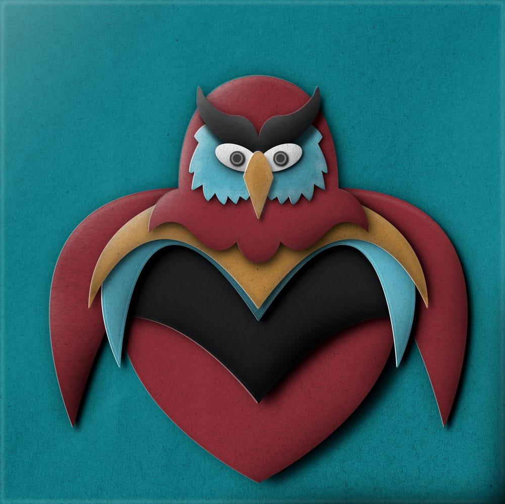 Owl Pop Up Illustration - image 1 - student project