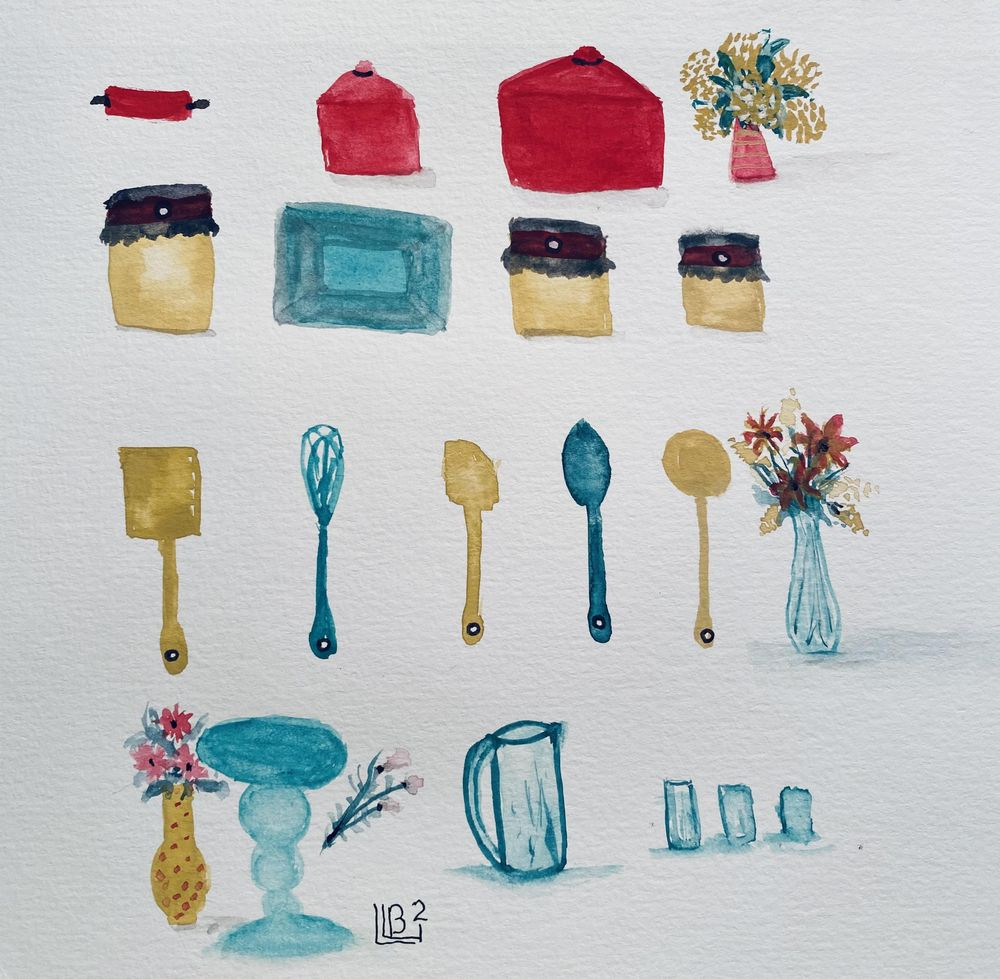 Simple Things in Gouache - image 1 - student project