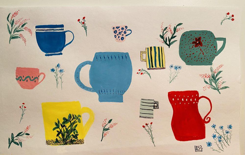 Simple Things in Gouache - image 2 - student project