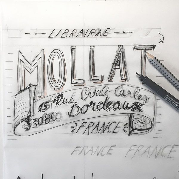 French Library - a hand lettering project - image 2 - student project