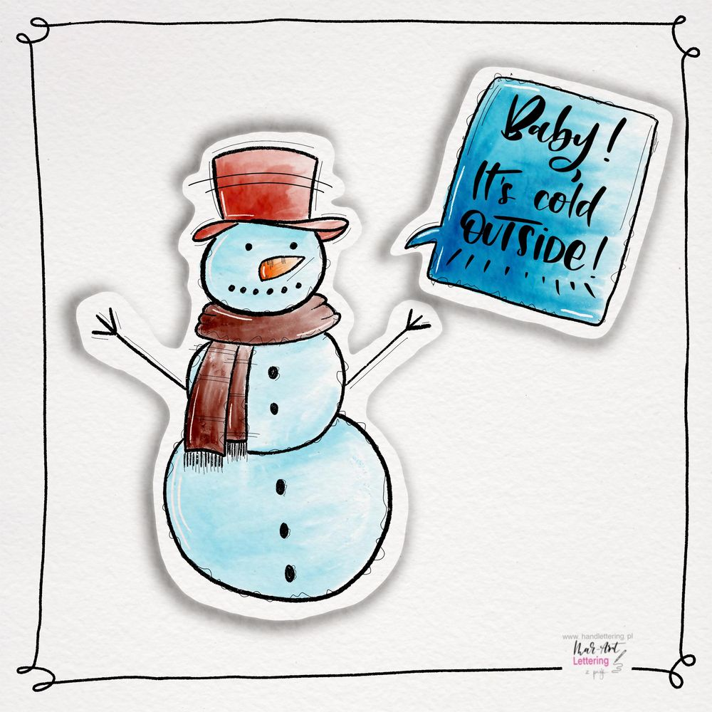 Snowman with Brenda - image 1 - student project