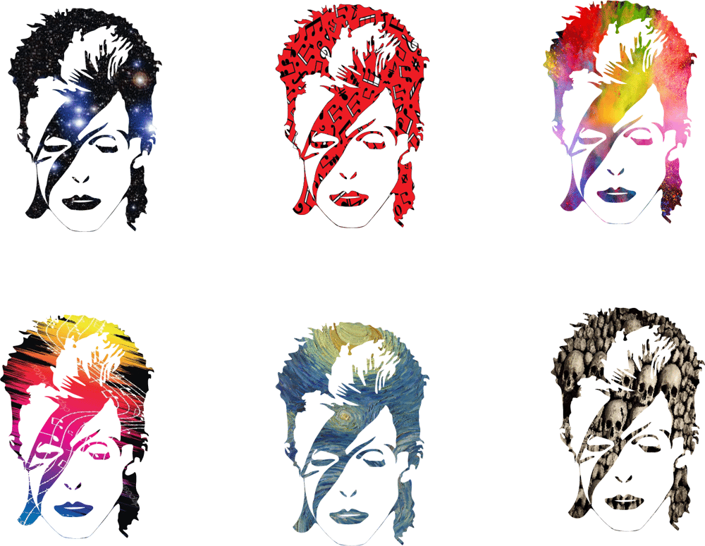 Bowie, Bowie, Bowie, Bowie, Bowie, Bowie, and Iggy - image 2 - student project