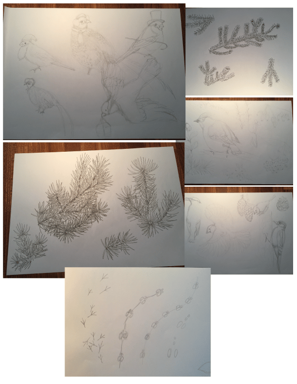 3 focal point prints in 3 weeks: Christmas Creatures, Sea Treasures & Auburn Alley - image 2 - student project