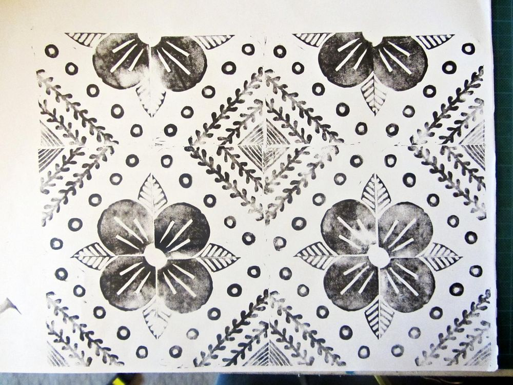 Block printed textile - image 3 - student project