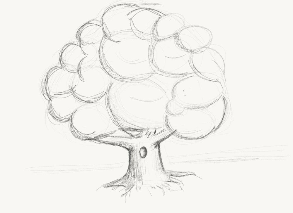 Sketching a tree - image 1 - student project