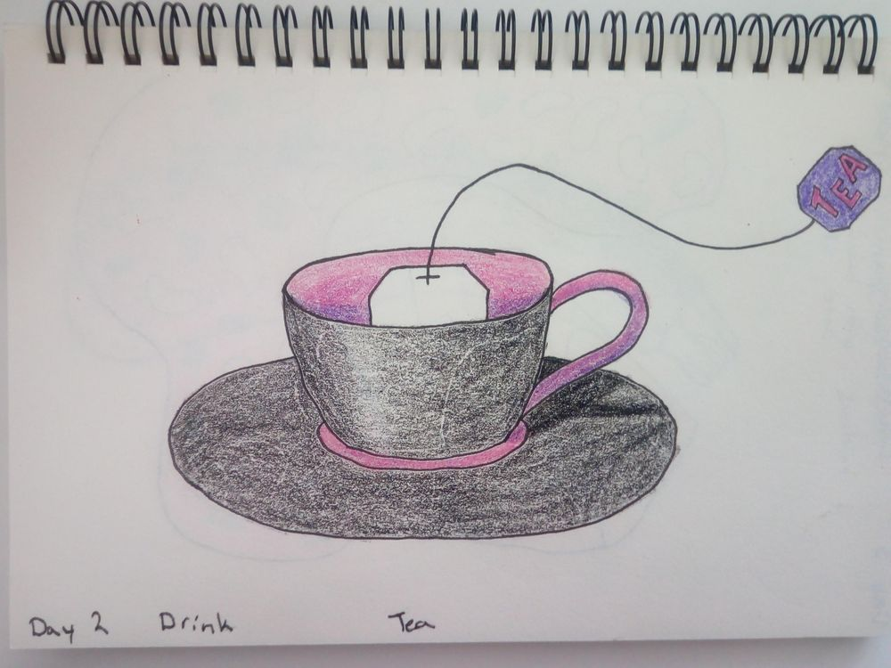 mindful eating/drawing - image 2 - student project