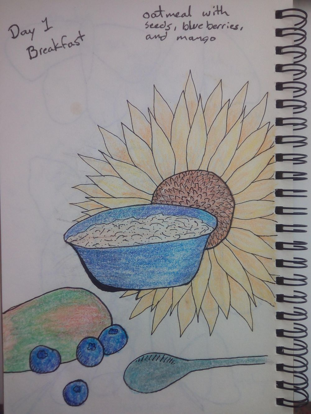 mindful eating/drawing - image 1 - student project