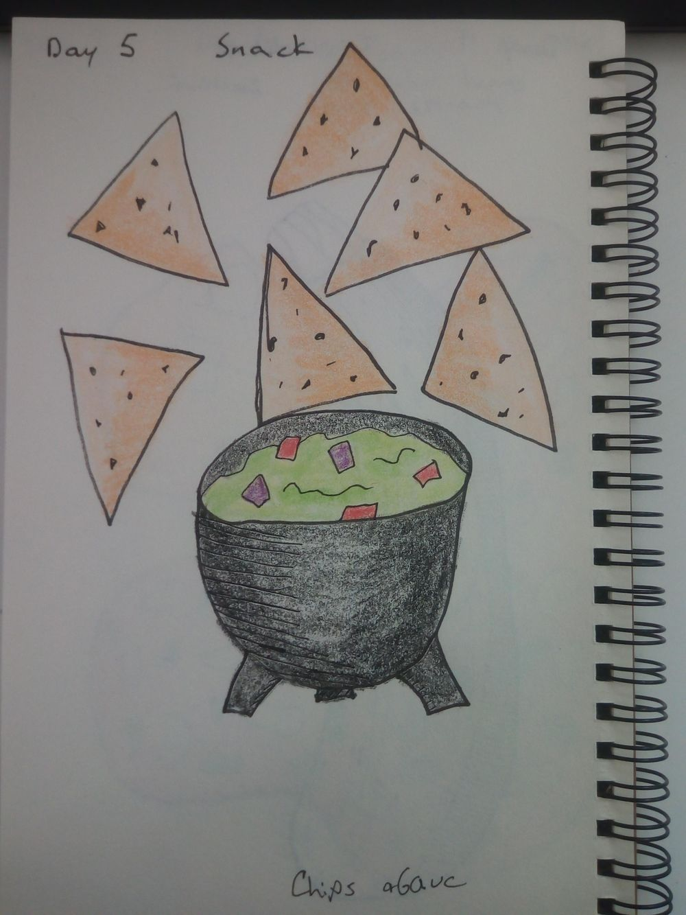 mindful eating/drawing - image 5 - student project