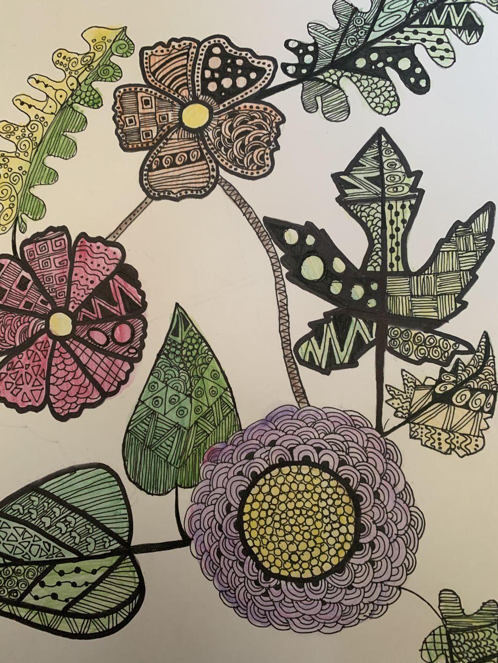 Zentangle Art - Hoomyrah Rambhia - image 1 - student project