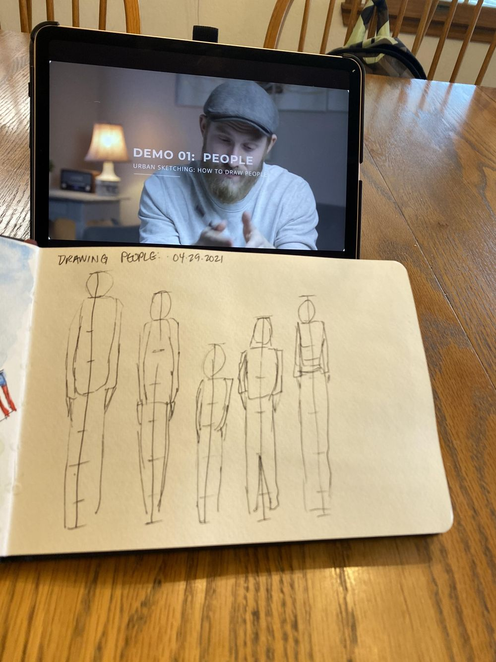 Urban Sketching People - image 2 - student project