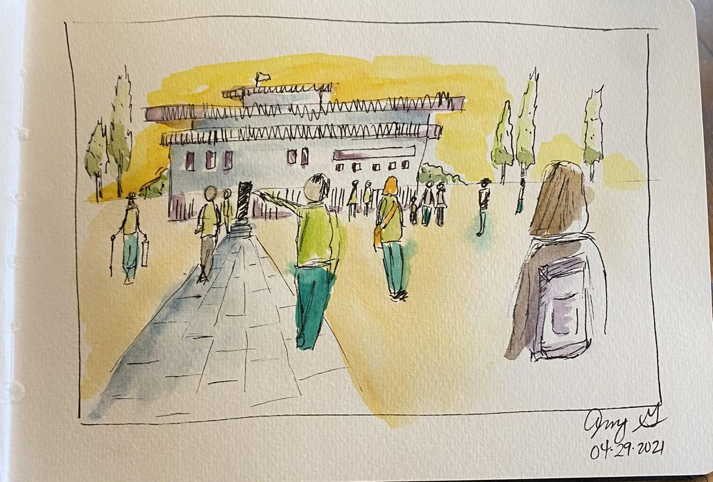 Urban Sketching People - image 1 - student project