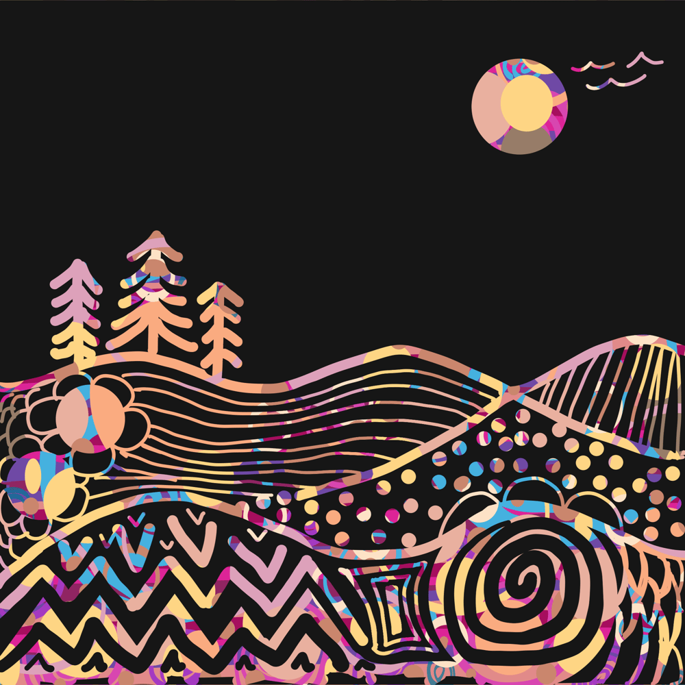 African Motif and Mountain Scene - image 2 - student project