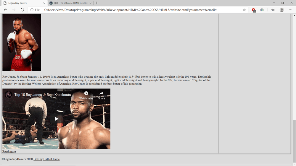 Legendary boxers - image 2 - student project