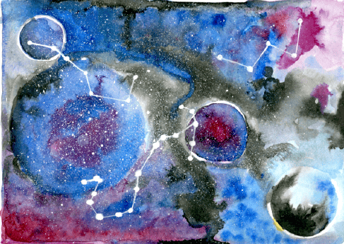 Project: Paint a Galaxy using Class Techniques - image 7 - student project