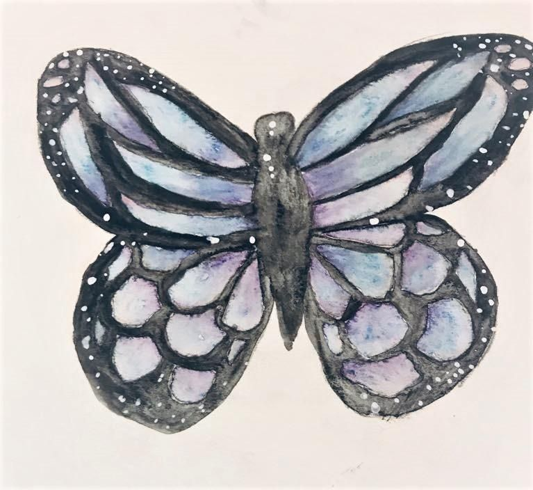 Butterfly Watercolor Pencils - image 1 - student project