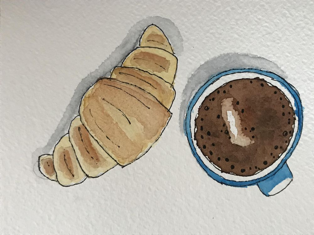 Coffee with croissant - image 1 - student project