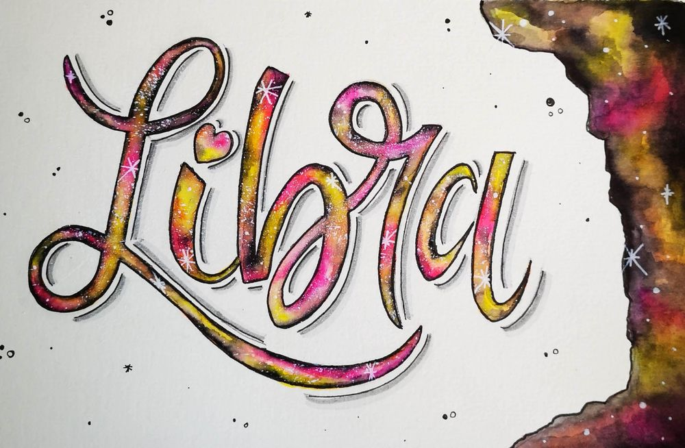 Galaxy lettering - image 1 - student project