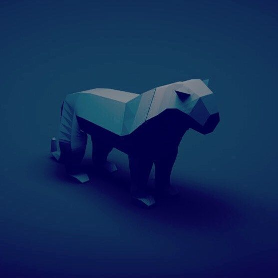 Low Poly Panther - image 1 - student project