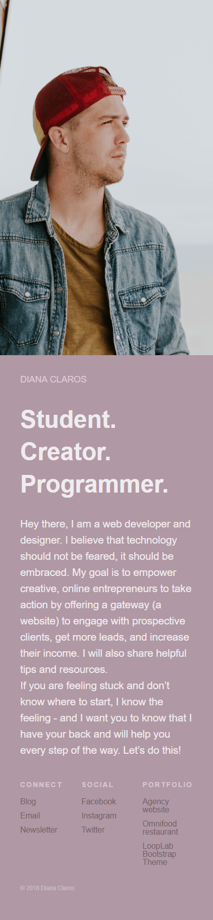 My Portfolio Website w/ Bootstrap - image 1 - student project