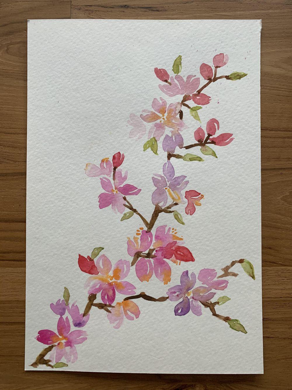 Luminous Watercolor Florals - image 2 - student project