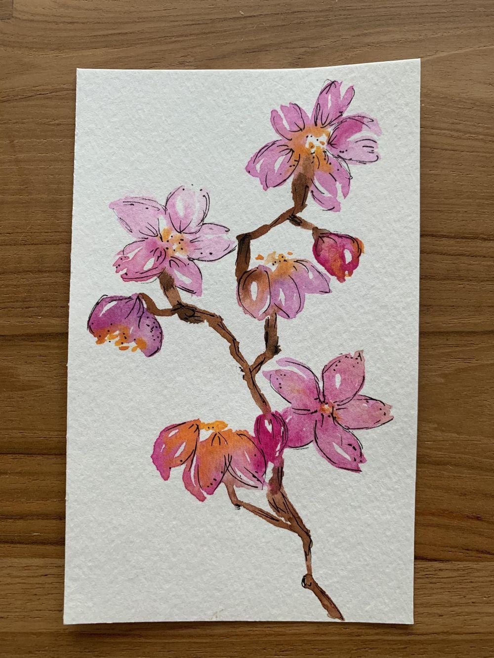 Luminous Watercolor Florals - image 1 - student project