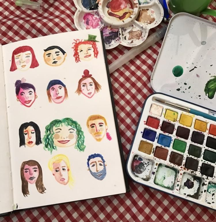 My invented little faces - image 1 - student project