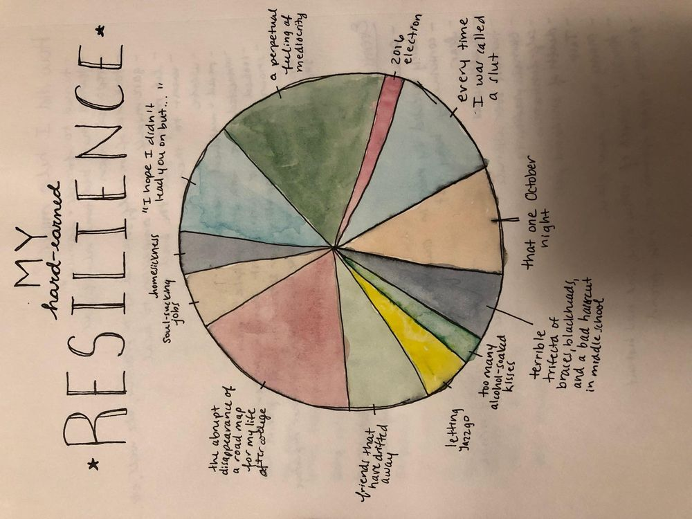 Resilience pie chart and Thankful (in progress) - image 2 - student project
