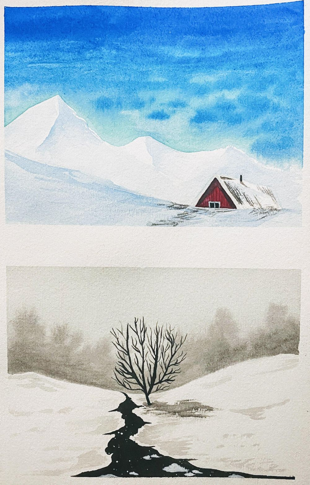 Learnt so much about painting snow - image 1 - student project