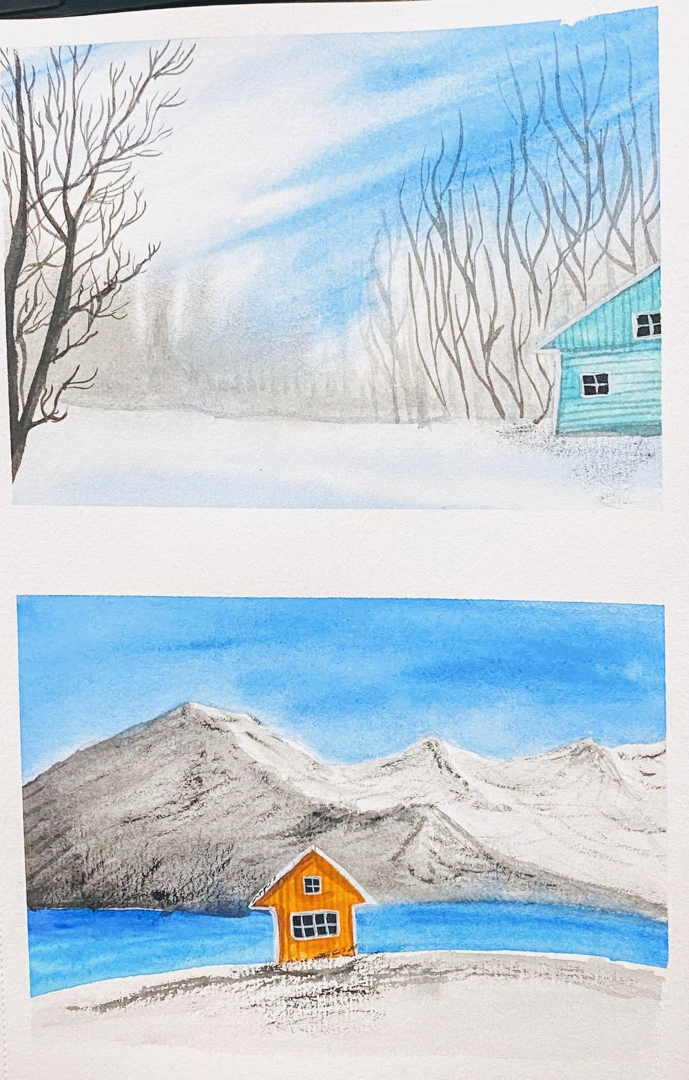 Learnt so much about painting snow - image 2 - student project