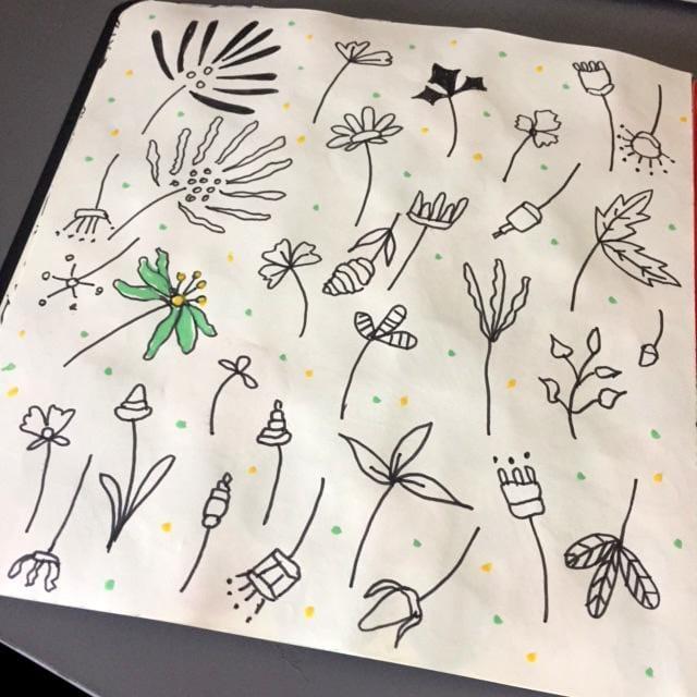 Flower doodles - image 1 - student project