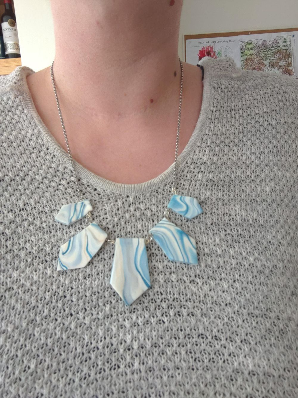 My marble FIMO necklace - image 1 - student project