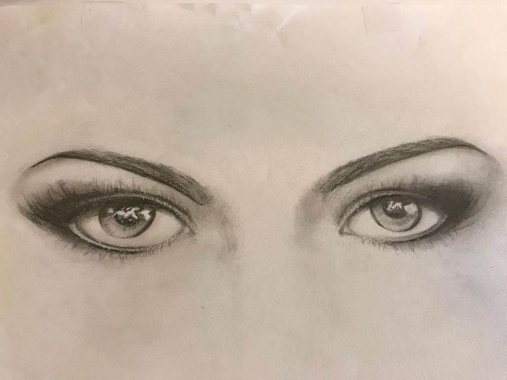 First realistic eye sketch  - image 1 - student project